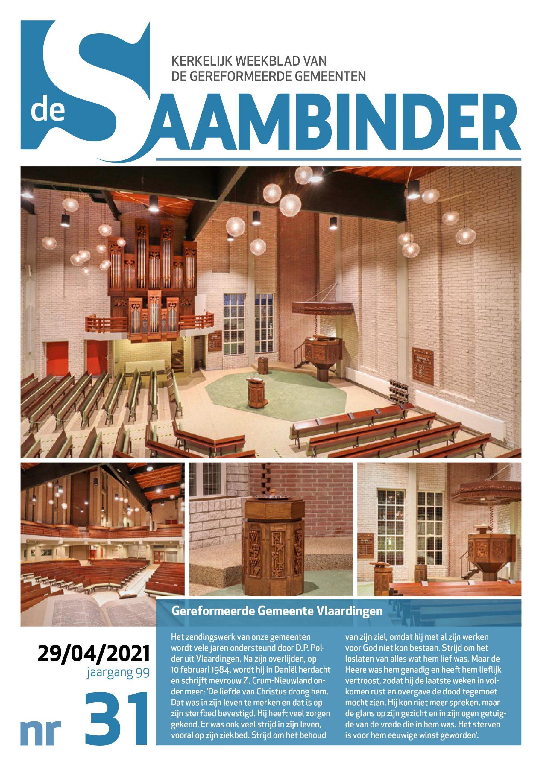 De Saambinder voorpagina